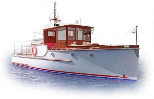 проект лодки ретро